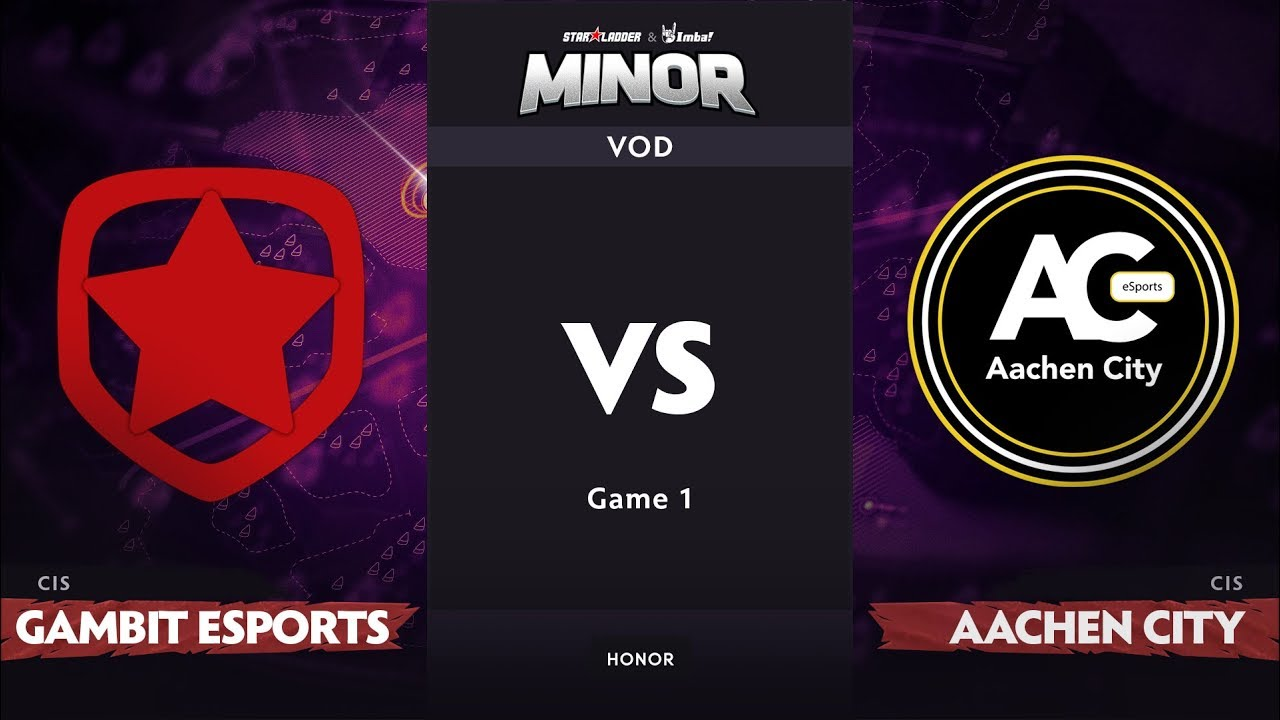 [RU] Gambit Esports vs Aachen City Esports, Game 1, CIS Qualifier, StarLadder ImbaTV Dota 2 Minor
