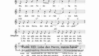 Den meine kostenlos herrn lobe seele noten Liederbuch: Evangelisches