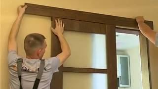 Установка раздвижной межкомнатной двери производства фабрики дверей