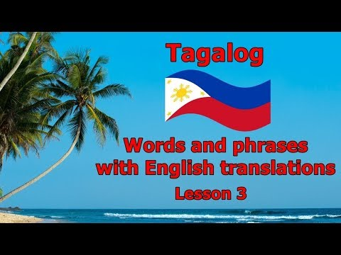Learn Tagalog (Filipino Language), Numbers, Days of the Week and Months of the Year - Part 3