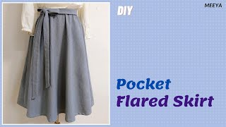DIY Flared Skirt Without Patte…