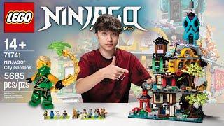 NINJAGO CITY GARDENS!!! Biggest LEGO Ninjago Set 71741! Time-lapse Speed Build, Stop Motion Review!
