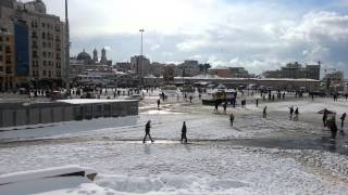 One Minute Of Taksim Square Under Snow