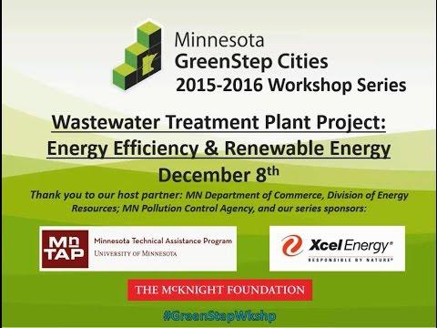 GreenStep Cities Workshop on Efficiency & Renewables for Waste Water Treatment Plants