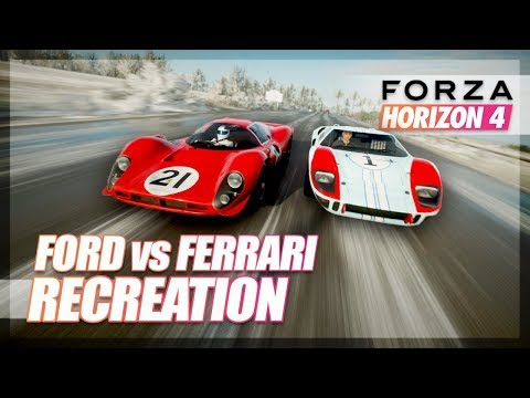 Forza Horizon 4 - Ford Vs Ferrari Recreation! (Le Mans 66')