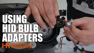 How to use HID Bulb Adapters, and why they won't work with LED Headlight Bulbs!