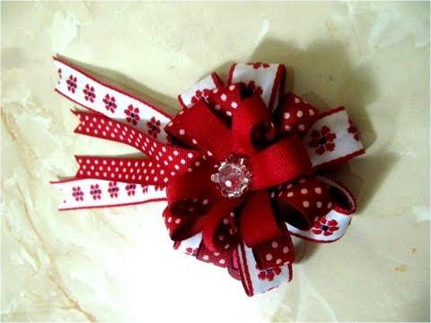 DIY moños pom pomen cintas para el cabello- Pom pom ribbons in hair ribbons