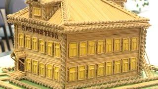 Храмы и дома из спичек возводит мастерица из Никольска
