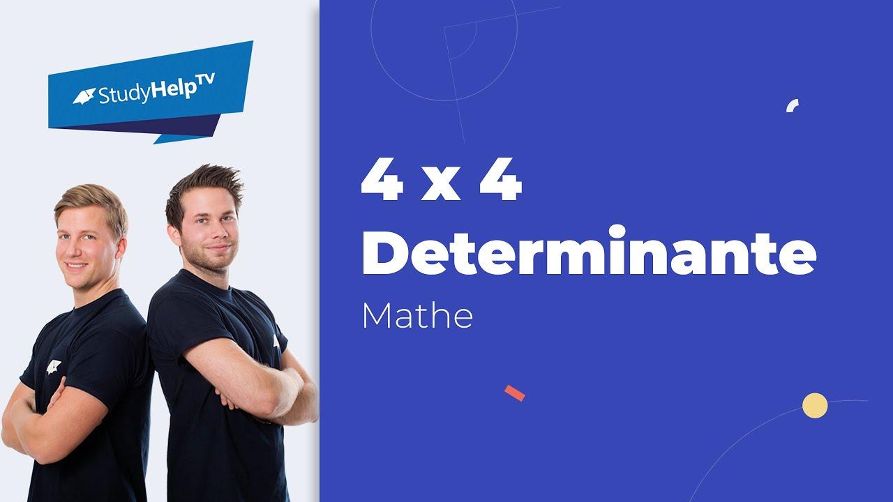 4x4 determinante mit laplaceschem entwicklungssatz youtube. Black Bedroom Furniture Sets. Home Design Ideas