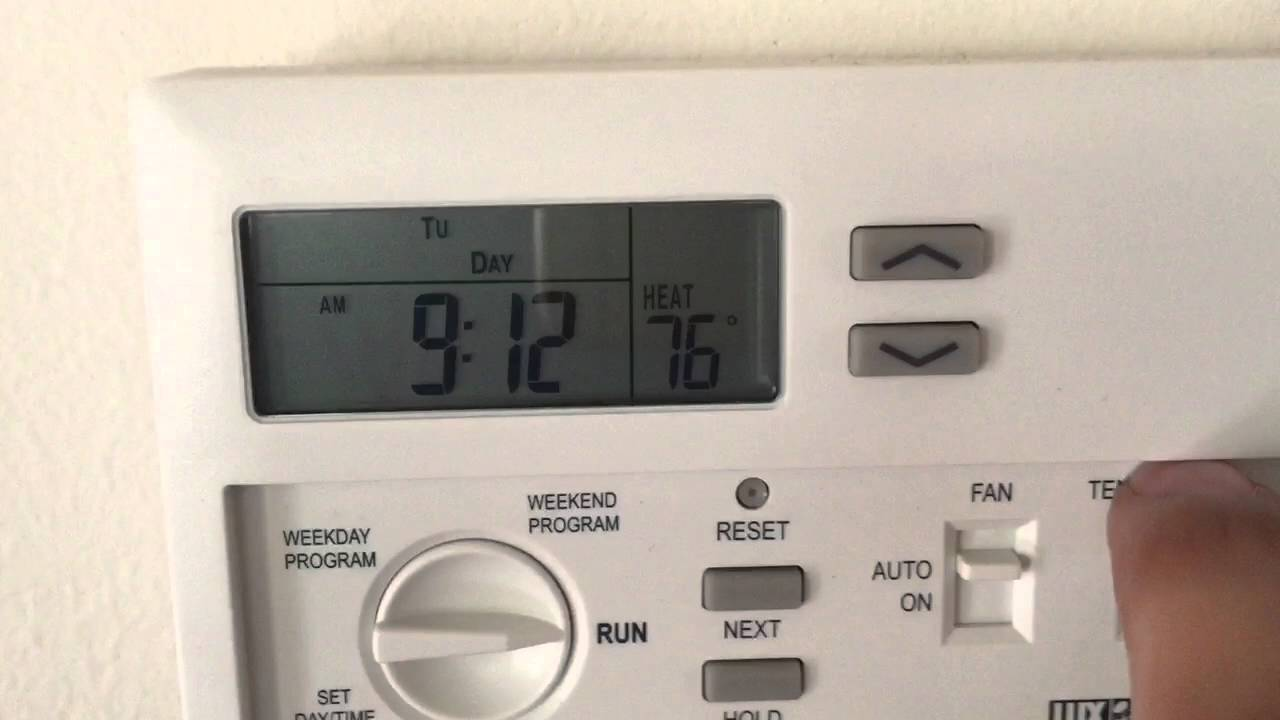 LUX TX 500E Thermostat never ending problems  YouTube
