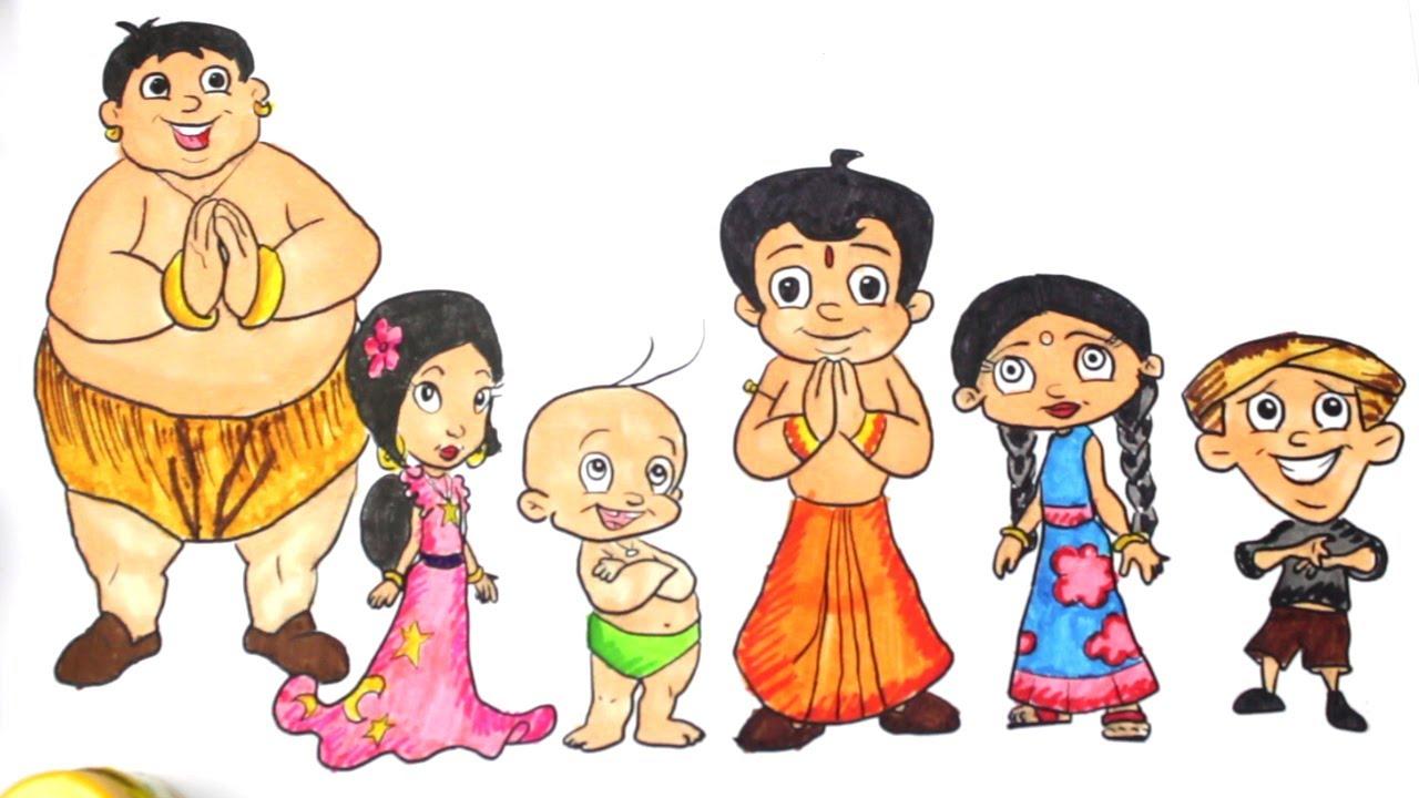 chhota bheem colouring page colouring chhota bheem cartoon
