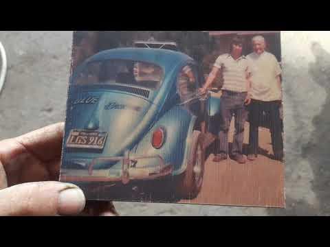 70s VW Bug deck lid wall art Christmas gift