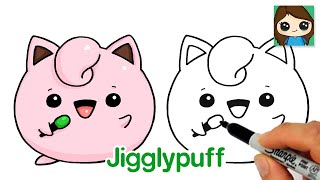 How to Draw Pokemon EASY Chibi #3 | Baby Jigglypuff