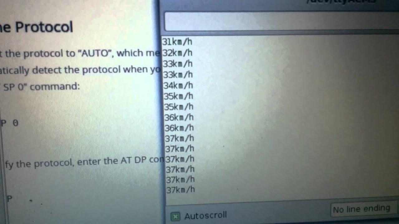 OBDII decoded via Arduino by Chris Harper