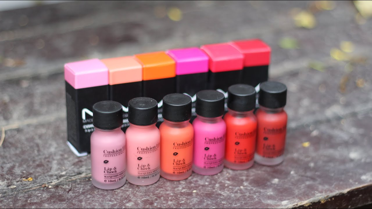 swatch review macqueen cushion tint lip cheek with cc engsub youtube