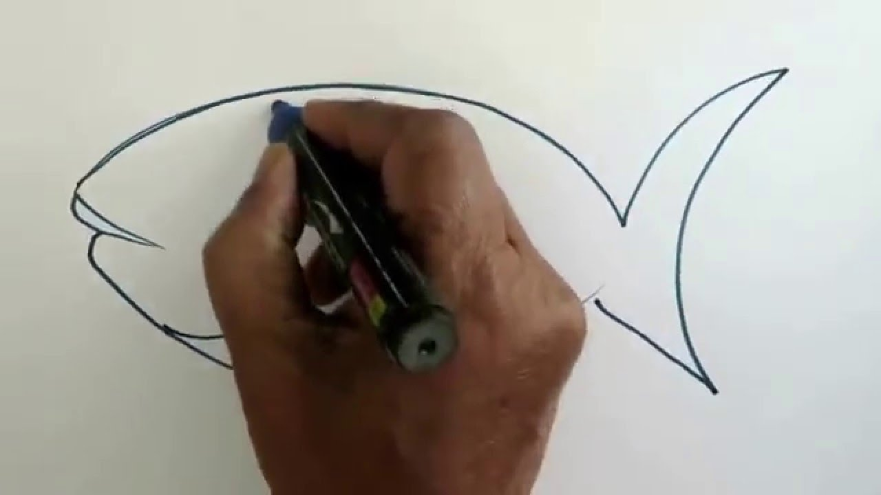 Easy Way To Draw A Fish Youtube