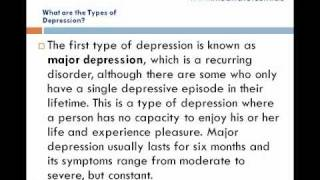 What are the Types of Depression
