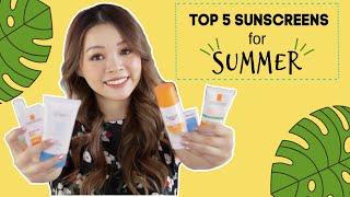 ☀️ 5 Loại Kem Chống Nắng Phù Hợp Nhất Mùa Hè 👍🏼 Top 5 Sunscreens for Summer ❤️ TrinhPham