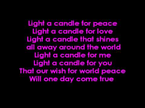 Light A Candle For Peace With Lyrics On Screen