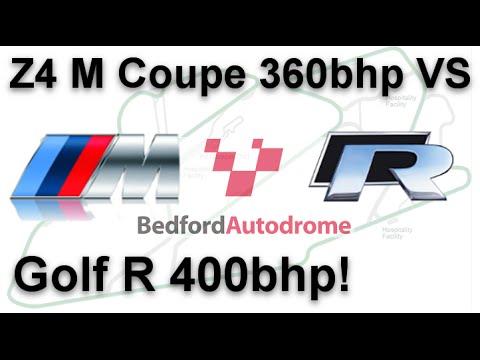 Z4 M Coupe vs Golf R Revo Tuned 400bhp @ Bedford Autodrome GT Circuit (28.11.2015)