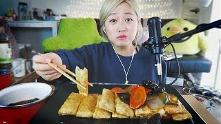 3.(asmr) Sweet & Sour Fried Dumplings cooking/eating sounds