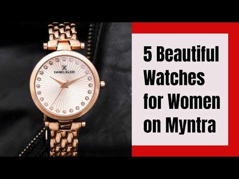 5 Beautiful Women Watches With Price L Daniel Klein L Myntra