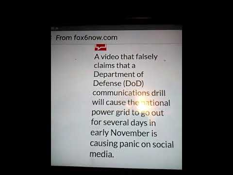 Emp National defenses power drill coming November 4th Thru the 6th are you prepared