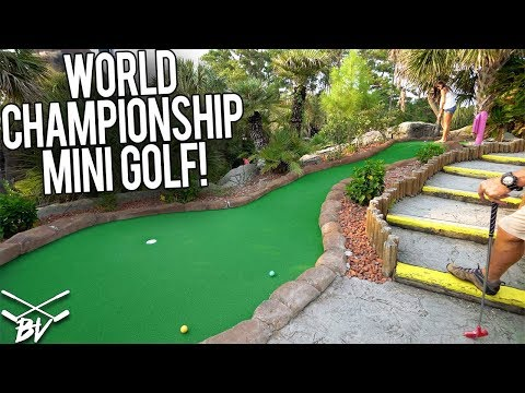 LUCKY HOLES IN ONE AT A WORLD CHAMPIONSHIP MINI GOLF COURSE!