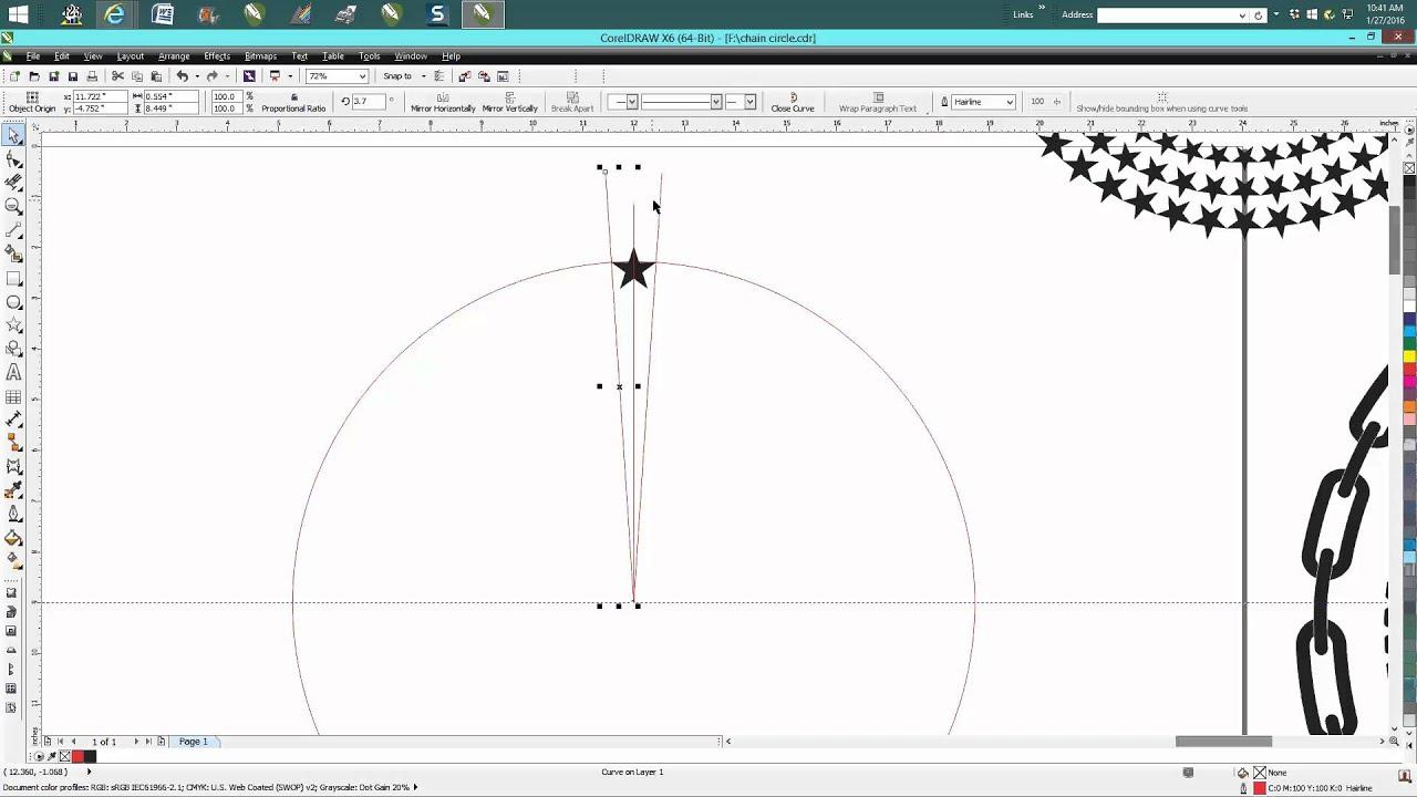 how to write around a circle in coreldraw tutorials