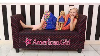 Video Girls Day Out at the American Girl Doll Cafe & Hair Salon! Alyssa's First American Girl Doll download MP3, 3GP, MP4, WEBM, AVI, FLV Agustus 2018