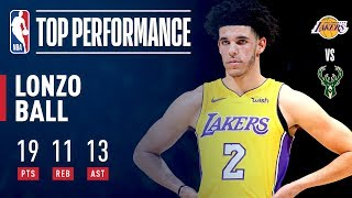 Lonzo Ball, Youngest Player in NBA HISTORY to Get a Triple-Double | November 11, 2017