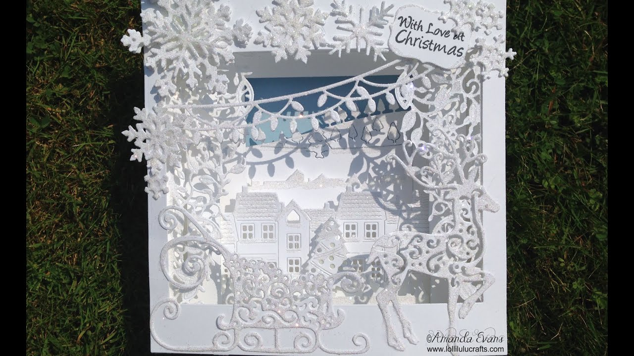 Tattered Lace Panorama Christmas Card YouTube