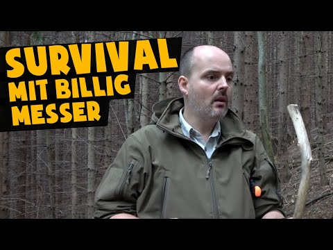 Survival mit BILLIG Messer | Survivaltraining Fiskars K40 | Böker Falun