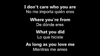 ♥ As Long As You Love Me ♥ Mientras Me Ames ~ por Backstreet Boys - Letra en inglés y español