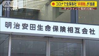"""コロナで生保各社""""非接触""""加速 ネット契約可能に(20/06/29)"""