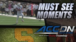 Syracuse DE Robert Welsh Returns Interception for 42-Yard Touchdown | ACC Must See Moment
