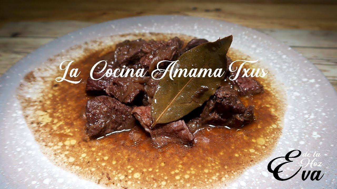 Guisado de carne de ternera al vino tinto