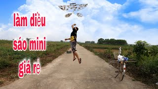 Small flute kite 1m6   hướng dẫn làm diều sáo siêu mini   Guide to making kite flute   Ba Sói TV