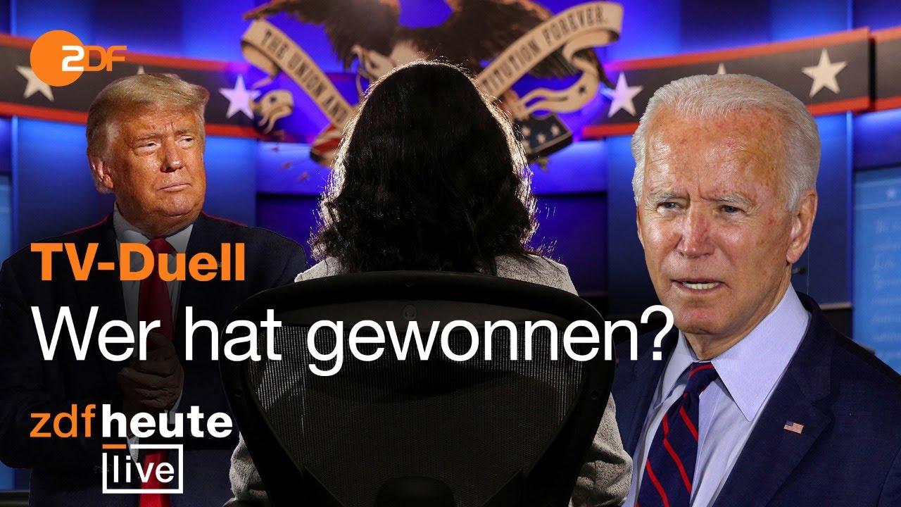 Trump vs. Biden: USA-Korrespondent analysiert die letzte TV-Debatte vor der Wahl I ZDFheute live