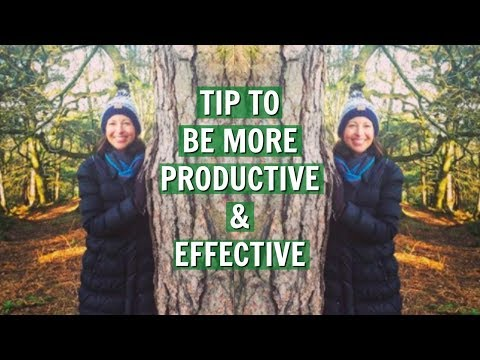 Top tip to be more productive and efficient with your time!