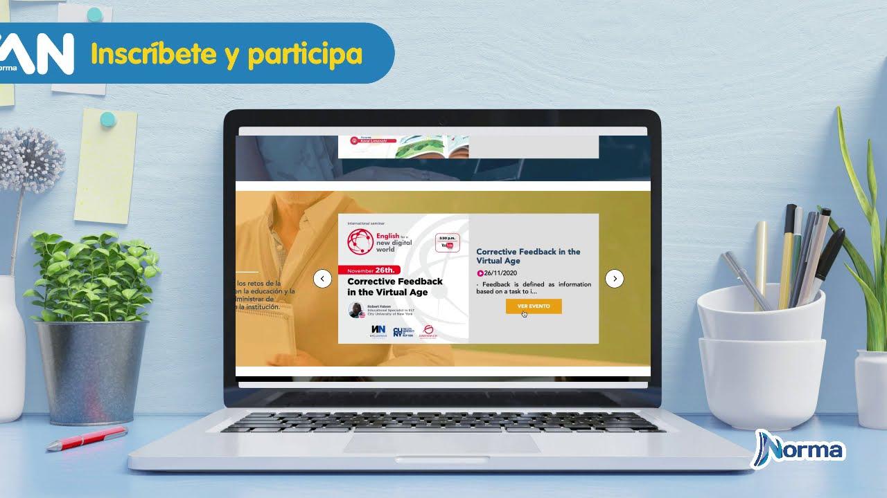 Suscríbete a nuestra plataforma de eventos educativos FAN