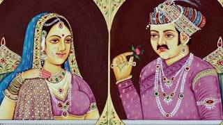 Great King Akbar And His Hindu Wife Rare Photo with their love story