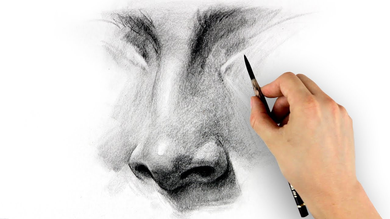 How to draw a nose step by step youtube ccuart Images