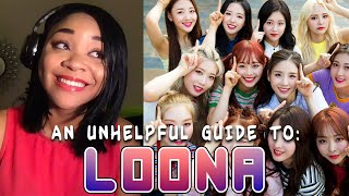 NEW FAN! Reaction to 'an (un)helpful guide to LOONA [OT12]' - TIME FOR LOONA SCHOOL!!!