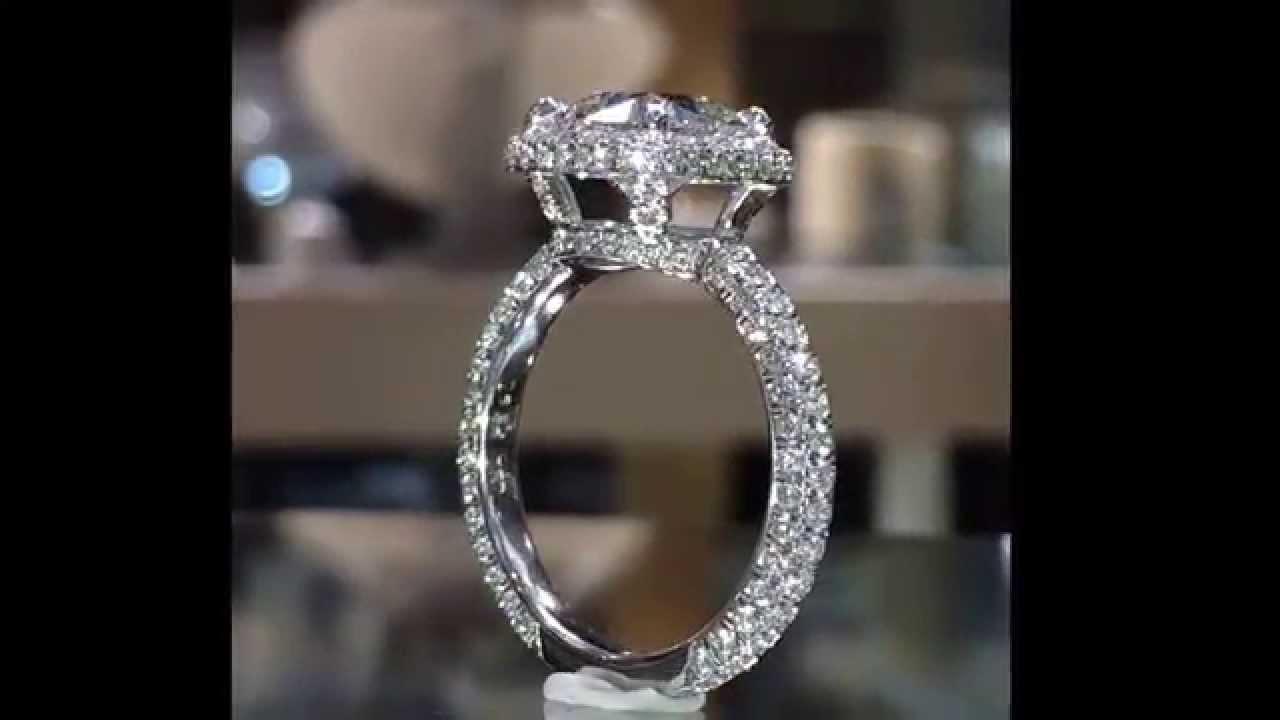 300 Ct Cushion Cut Diamond Limited Edition Halo Engagement Ring
