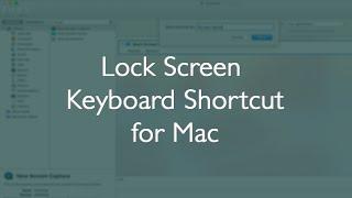 Set a Lock Screen Keyboard Shortcut on Mac (Sort of...) - Mac Tutorial