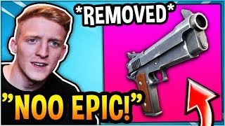 TFUE REACTS TO the OG Pistol BEING *REMOVED* from FORTNITE!
