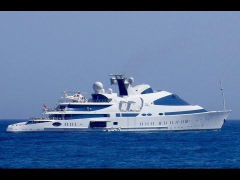 YAS  141m Royal Yacht  of  HH Sheikh Hamdan bin Zayed Al Nahyan in Puerto Banus