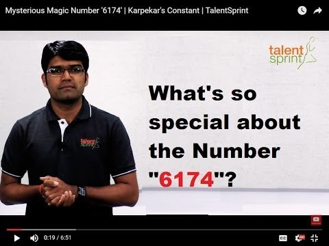 Mysterious Magic Number '6174' | Kaprekar's Constant | TalentSprint