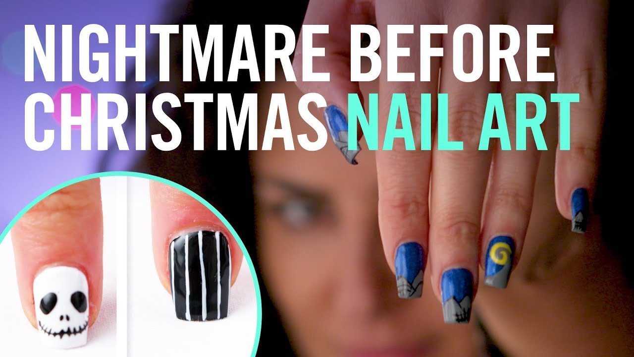 Tim Burtons The Nightmare Before Christmas Nail Art Tips By